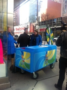 Free Nestea at Yonge and Edward downtown Toronto