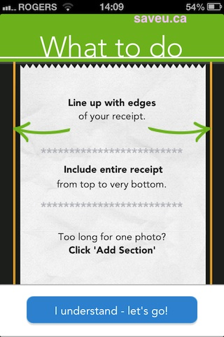Checkout 51 Take pic instructions