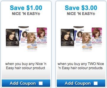 Save $3 on Nice 'n Easy Hair color products - P&G Brandsaver coupons