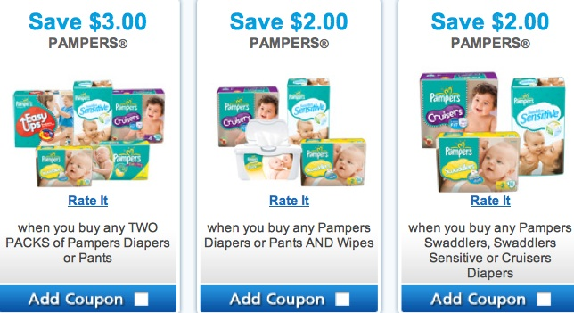 pampers coupons by mail canada