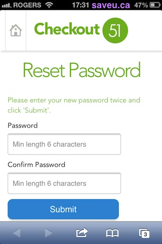 Reset your Checkout 51 account password