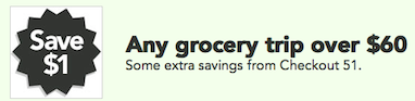 Checkout 51 Any Grocery Trip over $60 Cash Rebate Apr 11-17, 2013