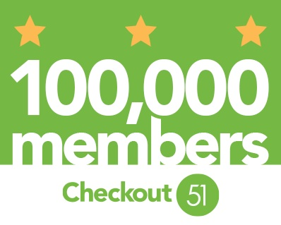 Checkout 51 has over 100,000 members as of Feb 2013.  Congrats!