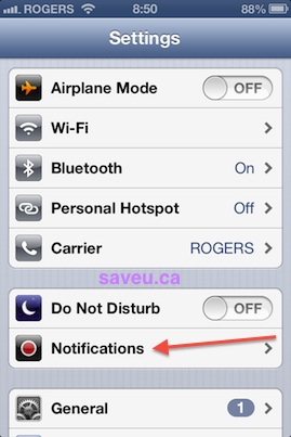 Checkout 51 - Turn off alerts and notifications - Go to Notifications Settings