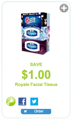 Royale Facial Tissue $1 off coupon