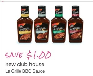Club House La Grill Coupon Save $1