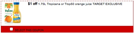 Tropicana Orange Juice Printable coupon Save $1.00