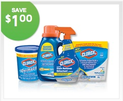 Clorox 2 Laundry Stain Remover Save $1.00 Printable Coupon