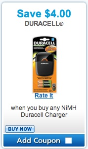 Duracell Rechargeable Coupon - Save $4.00