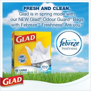 Glad Odour Guard Trash Bags Febreze