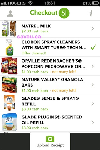 Not Many Left of Nature Valley and Orville Redenbacher's Popcorn Checkout 51 May 18-22, 2013