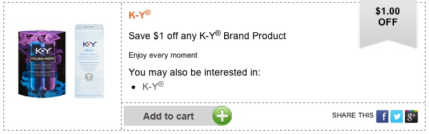 Printable Coupon Save $1 off any K-Y brand product