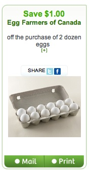 Save $1.00 on 2 Dozen Eggs - printable coupon
