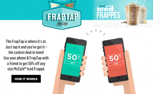 McDonalds 50% off Iced Frappes with FrapTap