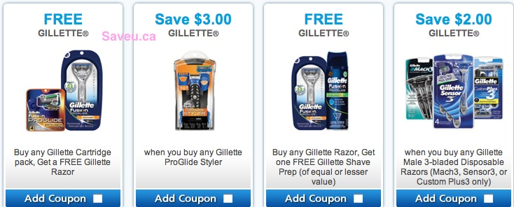 Gillette Coupons 2013 - Buy 1 Get 1 Free, Save $2.00 coupons
