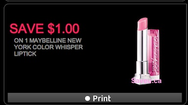 Maybelline Coupon - Save $1 on Maybelline Color Whisper Lipstick