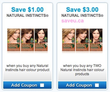 Natural Instincts Coupons Save $3.00 2 hair color products