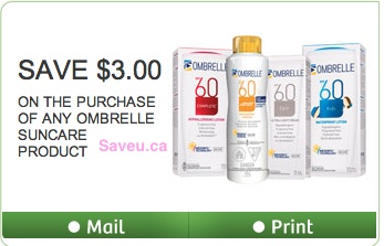 Ombrelle Coupon 2013 - Save $3 on Ombrelle Sunscreen
