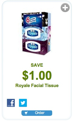 Royale Facial Tissue Coupon - Save $1.00 mailable coupon