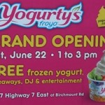 Free Frozen Yogurt at Yogurty's June 22