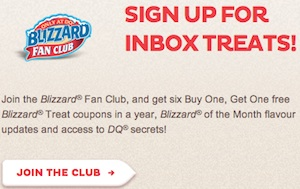 DQ Coupon - B1G1 Free Blizzard Join Blizzard fan club