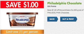 Philadelphia Chocolate Cream Cheese Coupon Save $1