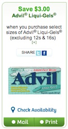 Advil Coupon - Save $3 on Advil
