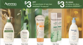 Aveeno Coupon - Save $3 on 2 Aveeno Products