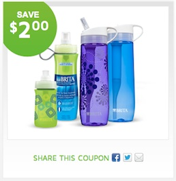Brita Bottle Filter Coupon - Save $2 on any Brita Bottle with Filter