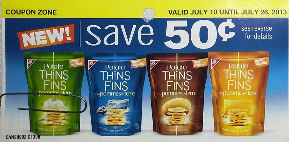 Christie Potato Thins Save $0.75 coupon