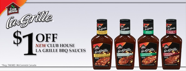 Save $1 on Clubhouse La Grille BBQ Sauces