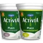 Danone Activia Yogurt Plain Sweetened and Unsweetened