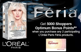 L'Oreal Paris Feria Promo - Get 5000 Shoppers Bonus Points