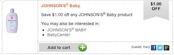 Johnson's baby Coupon - Save $1 on any Johnson's baby Product
