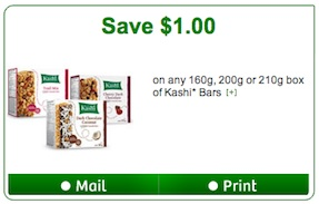 Kashi Bars Coupon to Save $1 off Kashi Bars