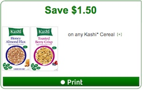 Kashi Cereal Coupon Save $1.50 on any Kashi Cereal