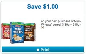 Kellogg's Mini-Wheats Cereal Coupon Save $1