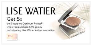 Lise Watier Coupon - Get 5x Shoppers Drugmart points