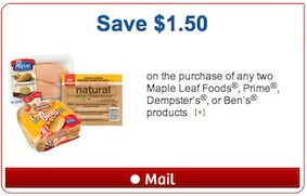 Mailable Dempster's Coupon - Save $1.50 on 2 Dempster's products