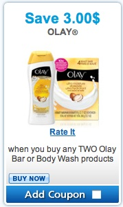 Olay Coupon - Save $3 on any two Olay bar and Body Wash product