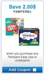 Save $2 on Pampers UnderJams or pampers Easy Ups - Pampers Coupon