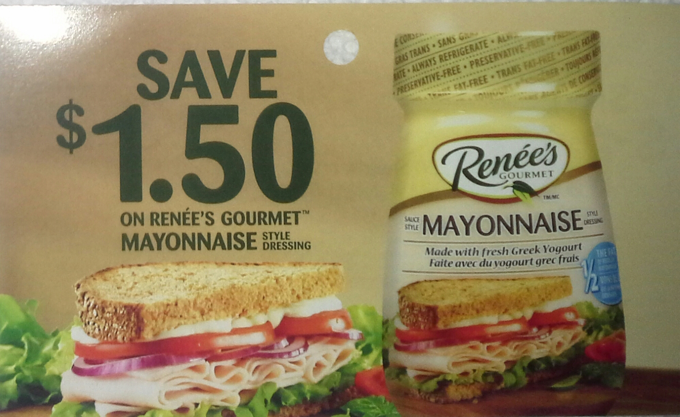 Renee's Coupon - Save $1.50 on Renee's Mayo