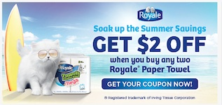 Shoppers Drugmart Coupon - Save $2 on 2 Royale Paper Towels