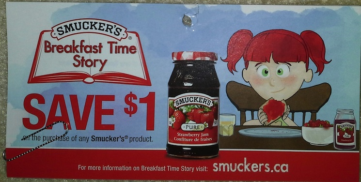Save $1 on any Smuckers product - Tear Pad