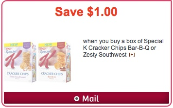 Special K Cracker Chips Coupon Save $1 hidden Websaver.ca coupon