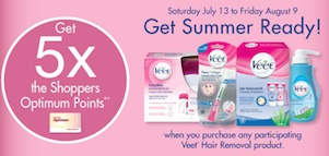 Veet Promotion - Get 5X shoppers points on Veet