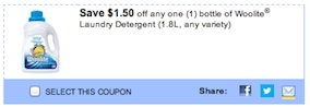Woolite Coupon - Save $1.50 on any Woolite Liquid Laundry Detergent