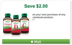 Jamieson Coupon - Save $2 on Jamieson vitamin product