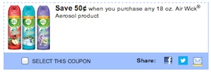Air Wick Aerosol Coupon Save $0.50