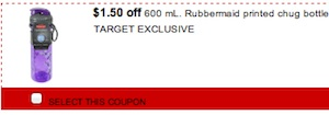 Rubbermaid Coupon - Save $1.50 on Rubbermaid Chug Bottle